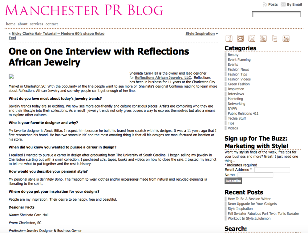 Manchester Public Relations Oct. 7, 2011