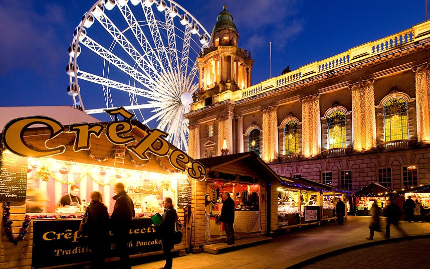 Belfast Continental Christmas Market (Photo Credit: Telegpraph.co.uk)