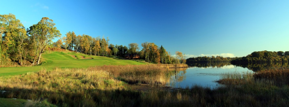 The 9th hole at Lough Erne Resort, Co. Fermanagh