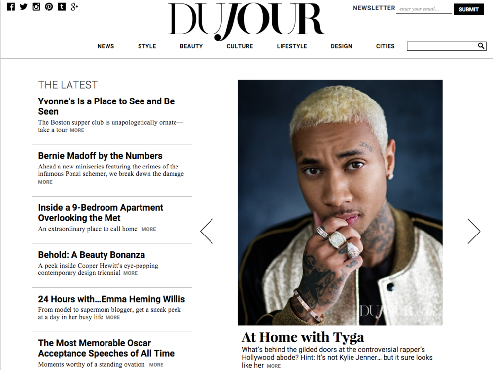 Tyga for Dujour Magazine