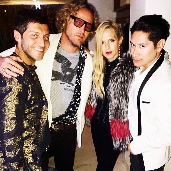 Ev Bousis, Roberto Cavalli's Creative Director, Peter Dundas, Rachel Zoe & Carlos Eric Lopez