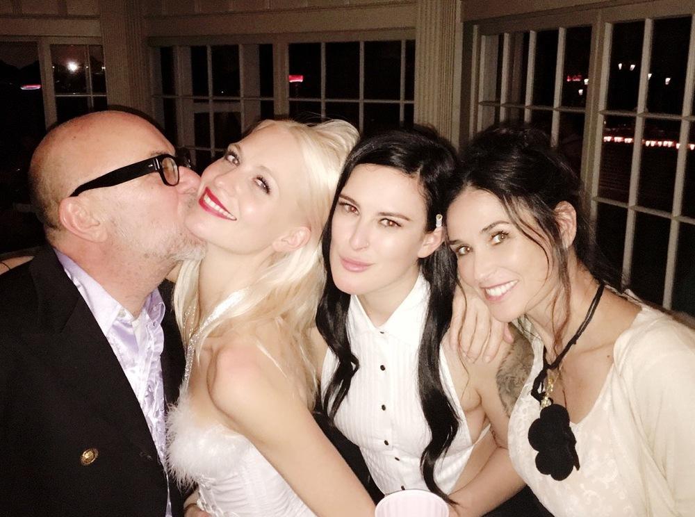 Eric Buterbaugh, Poppy Delevigne, Rumer Willis & Demi Moore