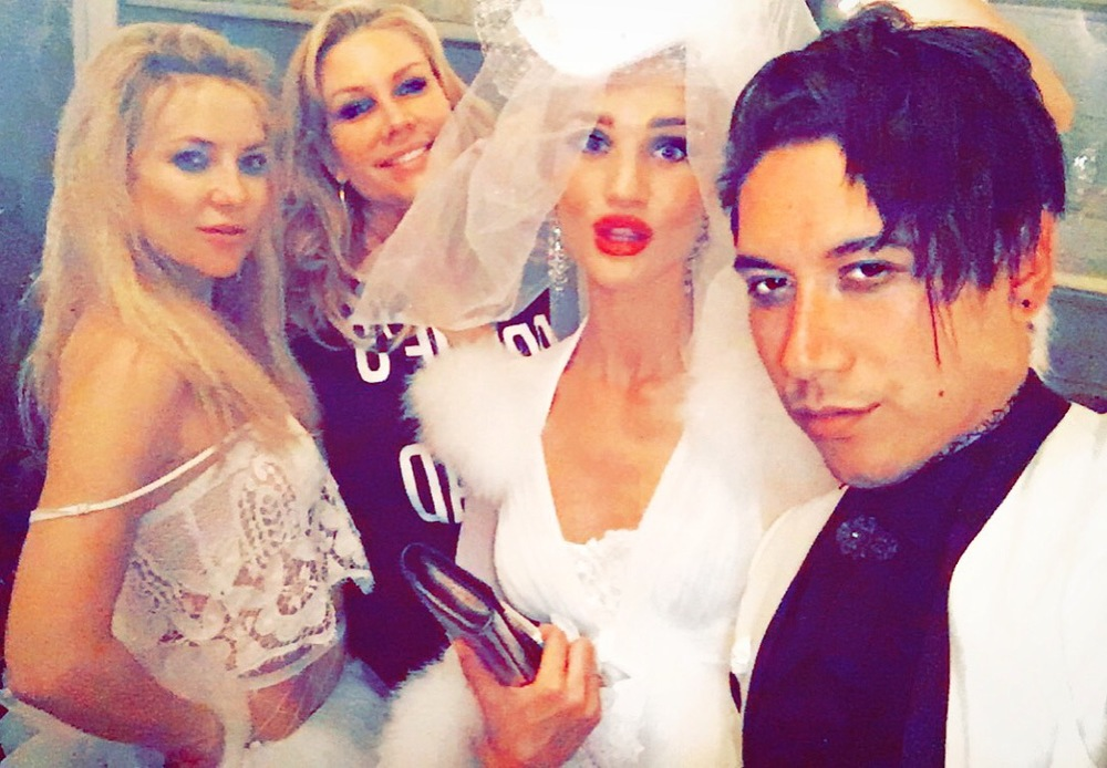 Kate Hudson, Heather Parry, Rosie Huntington-Whiteley & Carlos Eric Lopez