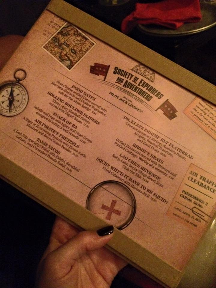 Menu at Jock Lindsey's Hangar Bar