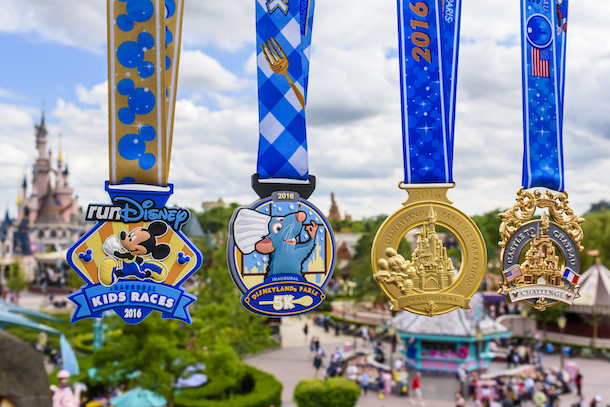 Medals for Disneyland Paris Val d'Europe Marathon Weekend