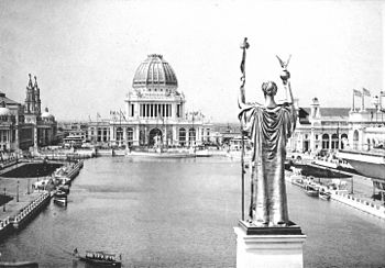 Administration Building and Republic statue -1893 World's Fair