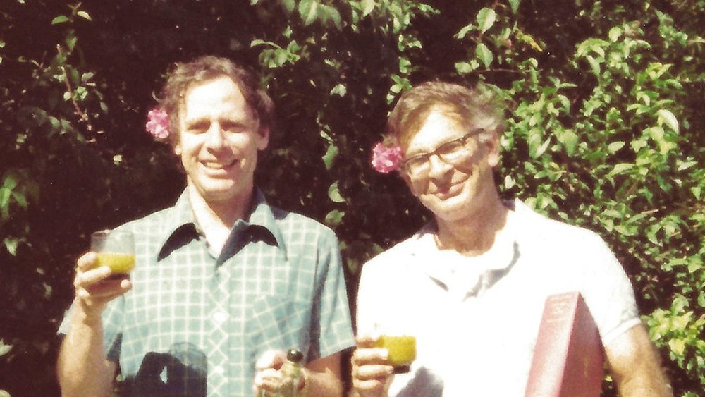 Just a couple of war dogs, Amos Tversky and Daniel Kahneman toast to their partnership in the 1970s.  Courtesy of Barbara Tversky
