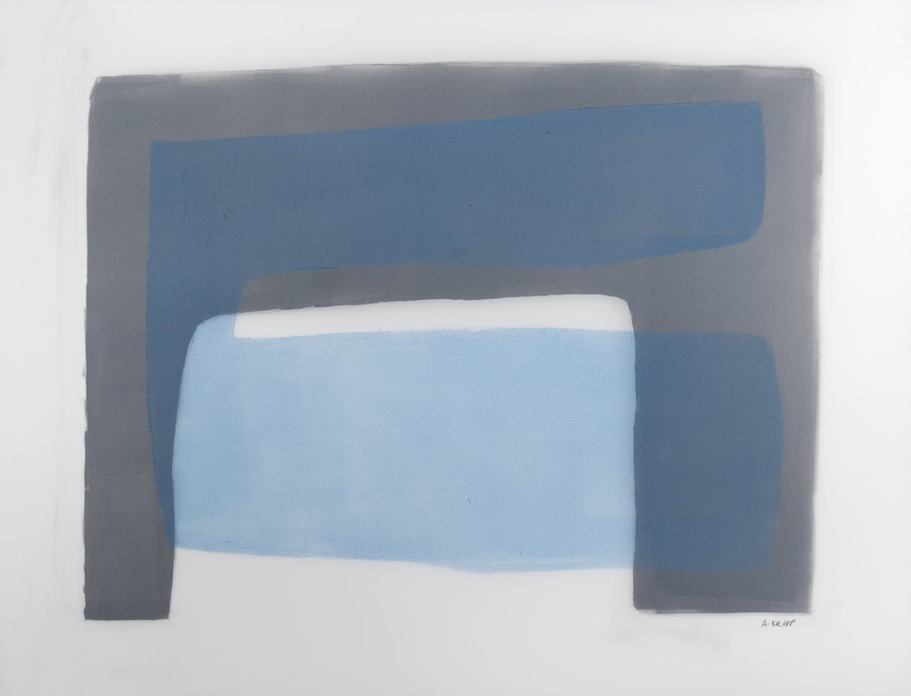 "Northland composition – 1, Graphite, acrylic on translucent paper, 17"" x 23"", 2017"