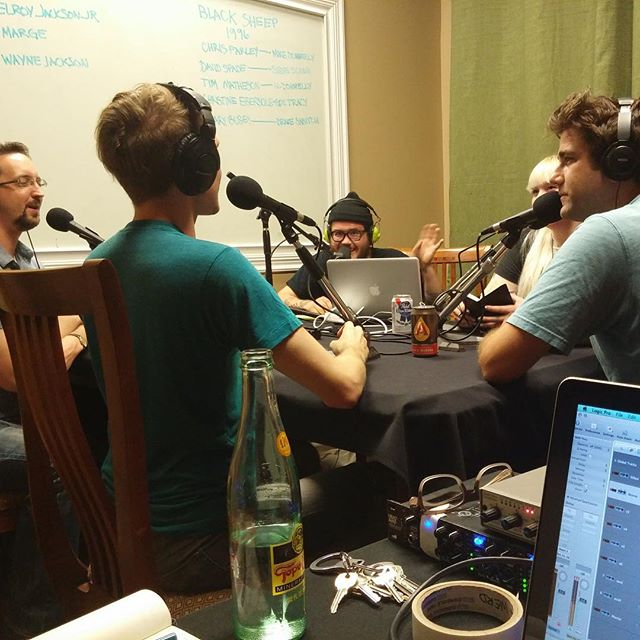 Behind the scene photo of the #GBTM team recording last night at #WERD #studio ! #podcast #GaryBusey #comedy