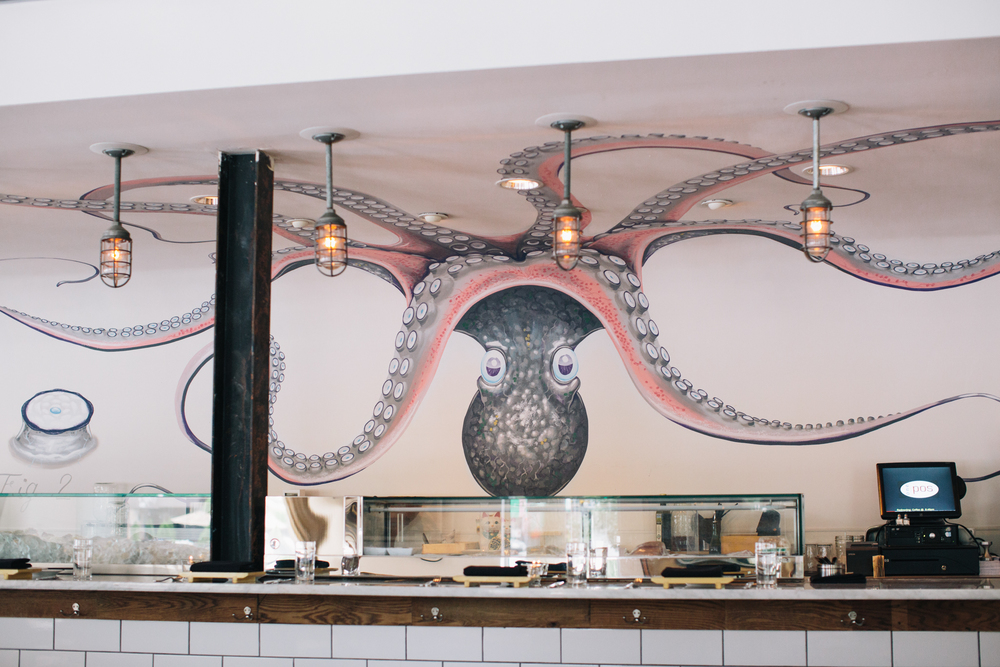 The oyster bar at Chef Angus Brown's LUSCA in Atlanta.
