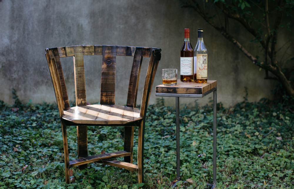 The limited-edition  Pappy Van Winkle stave chair.