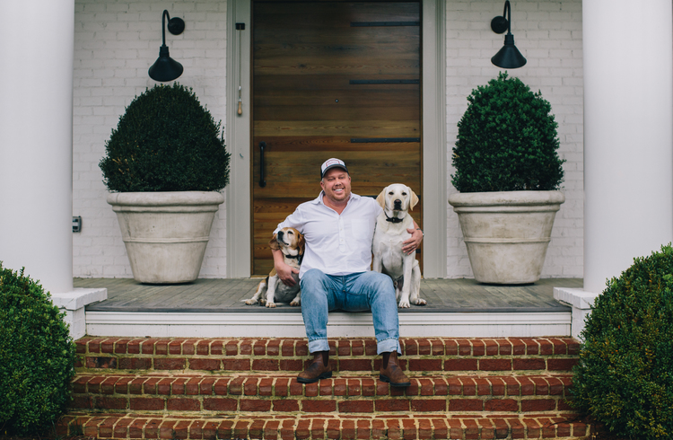 Ford Fry at home in Roswell, Georgia as photographed for Southerners and Their Dogs, August 2015. Photo: Caroline Fontenot.