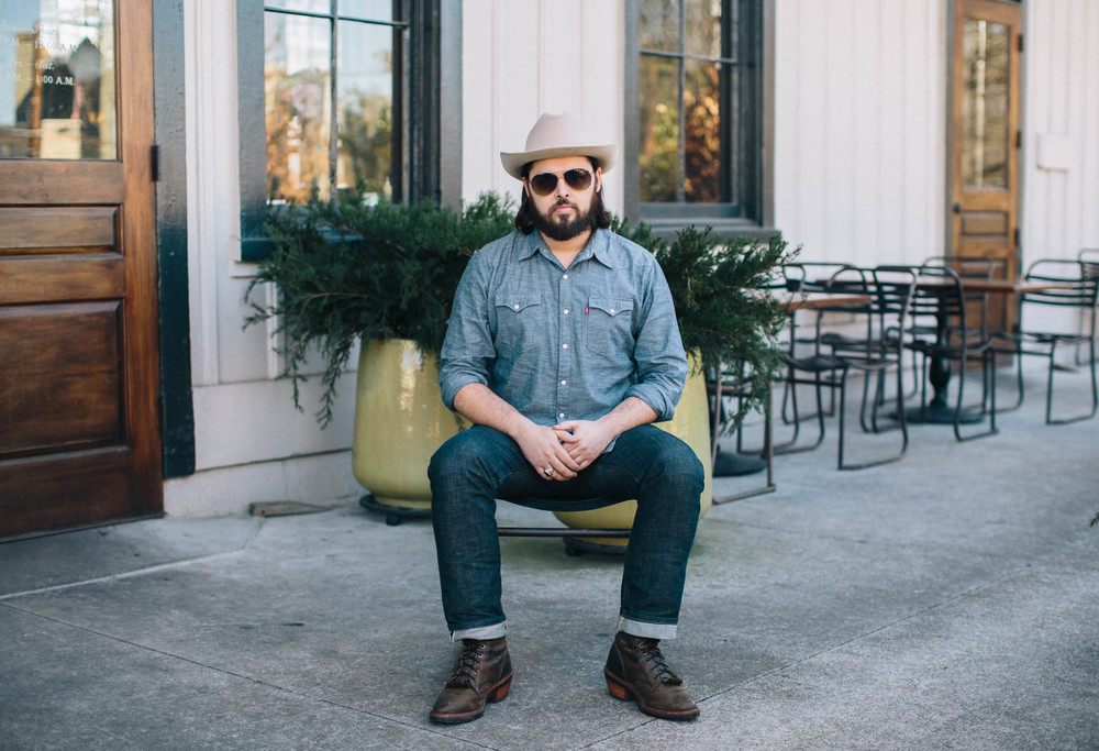 Caleb Caudle on Location at Kimball House in Atlanta. Photo: Caroline Fontenot for The Love List.