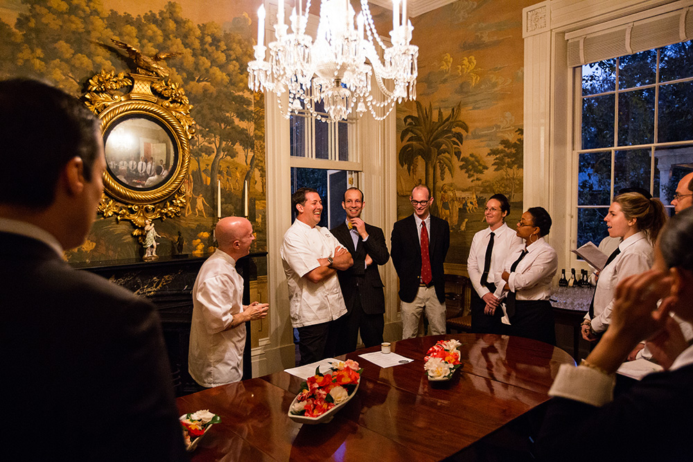 Lee Brothers Charleston Dinner. Photo by Andrew Cebulka
