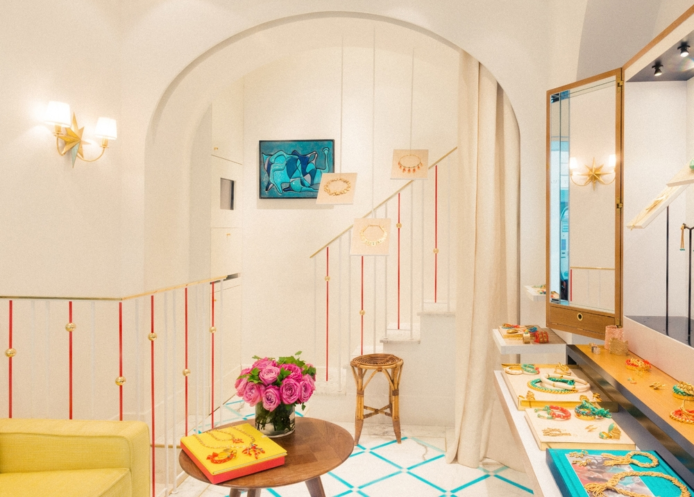 Interior of the Aurelie Bidermann boutique, rue des Saints-Pères, Paris. Photo via La Compagnie