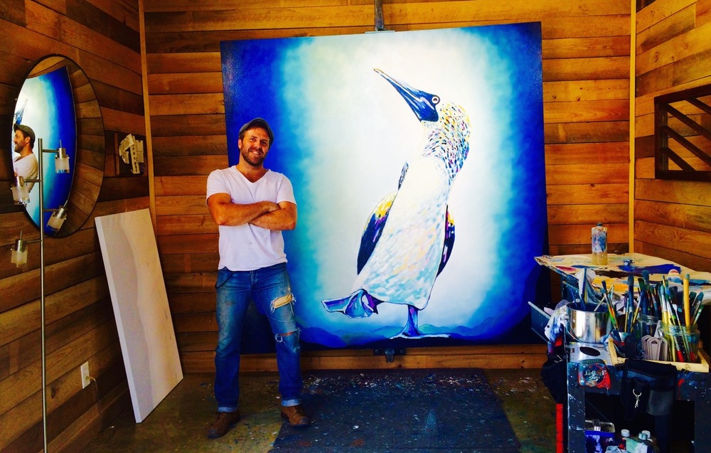 Artist Bradley Gordon in his Oxford, Mississippi studio.