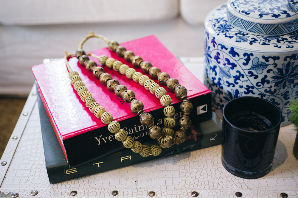 Brass beads and ginger jar from  Establishment Home