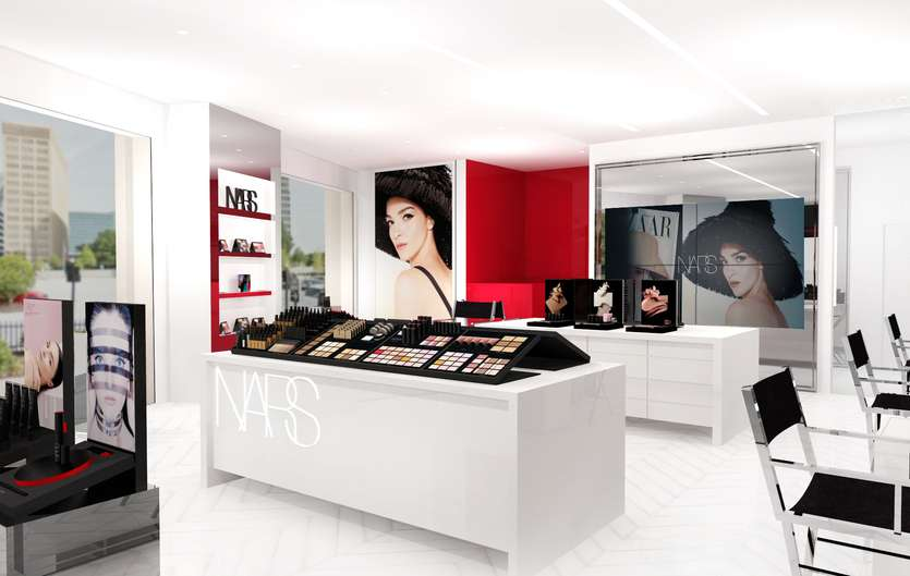The new NARS boutique in Buckhead Atlanta. Photo vourtesy NARS Global.