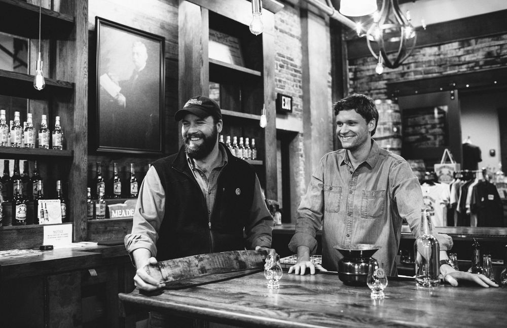 Charlie and Andy Nelson at their Nashville distillery and tasting room.