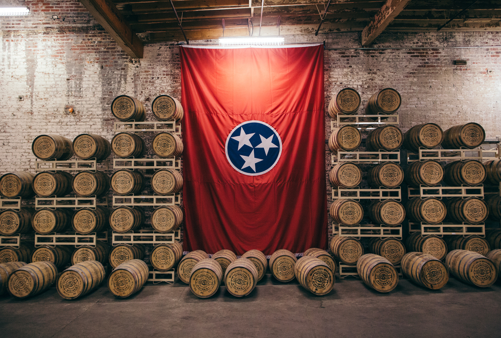 Whiskey barrels at Nelson's Green Brier in Nashville.