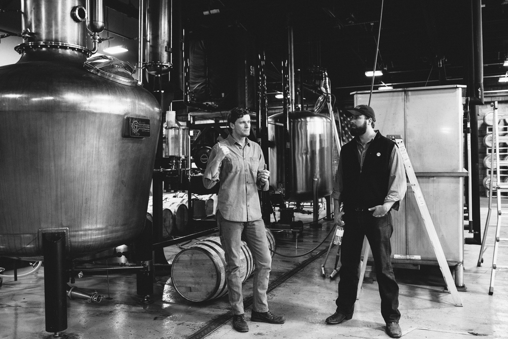 Charlie and Andy Nelson speak in detail about the distillery's stills.
