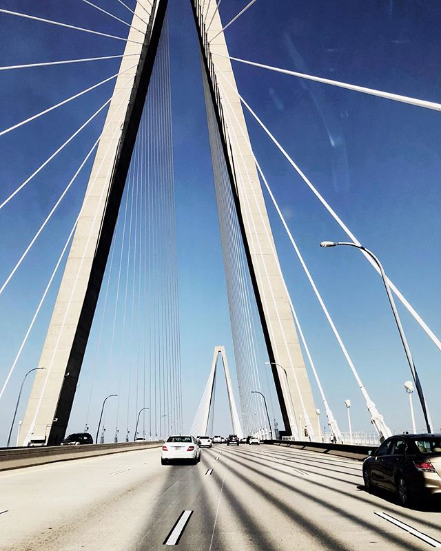 So how many vehicles do you think have nearly collided in an effort to get some version of this photo on the Ravenel bridge?