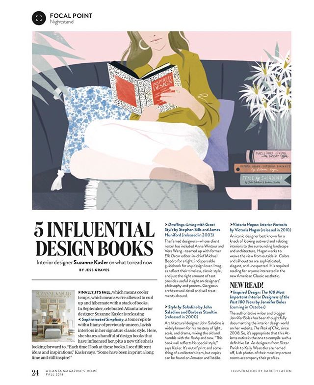 It's always interesting seeing what makes a seasoned designer like @suzannekasler tick behind the scenes — she named some really great vintage design titles as inspiration in this piece I wrote for this month's @atlmaghome. Better, she's got a new book of her own coming out, as does more hometown talent: the enduring @thepeakofchic! Putting all of these on my Christmas list!