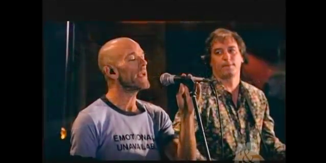 "Michael Stipe is also emotionally unavailable as he sings my favourite R.E.M. song ""I've been high""."