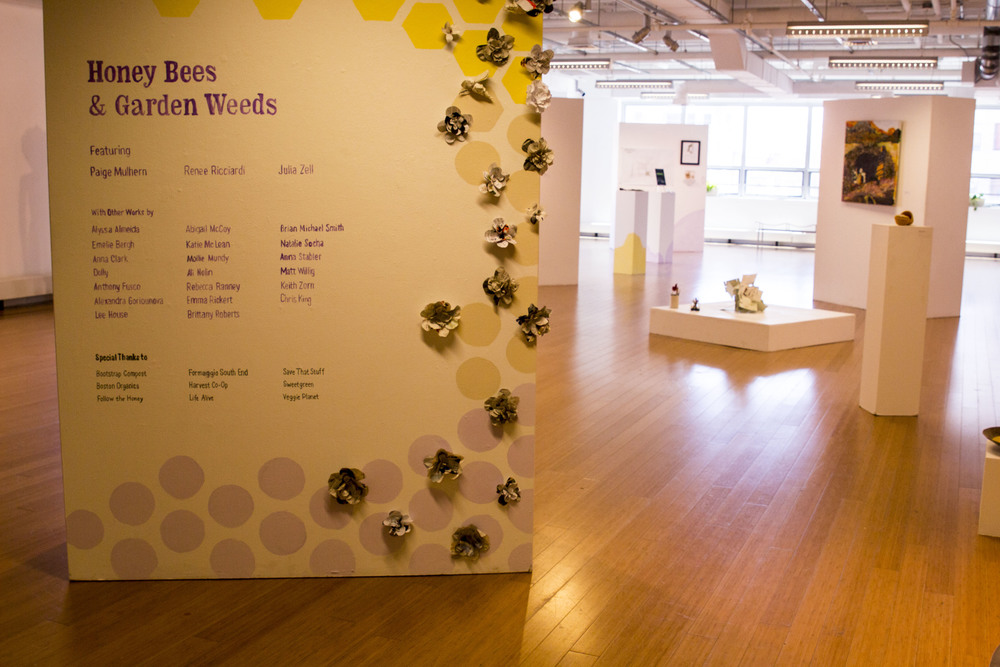 Title Wall by Anna Clark and Katie McLean