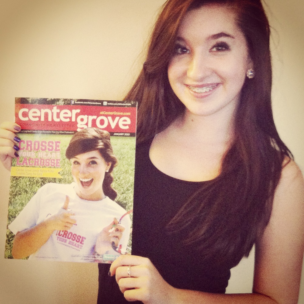 Crosse Your Heart was the cover story of the @Center Grove magazine in February of 2013.
