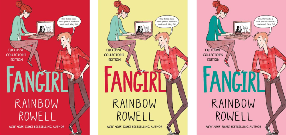 Book Cover Canvas Art Barnes And Noble : Beautiful fangirl special edition out now — rainbow rowell