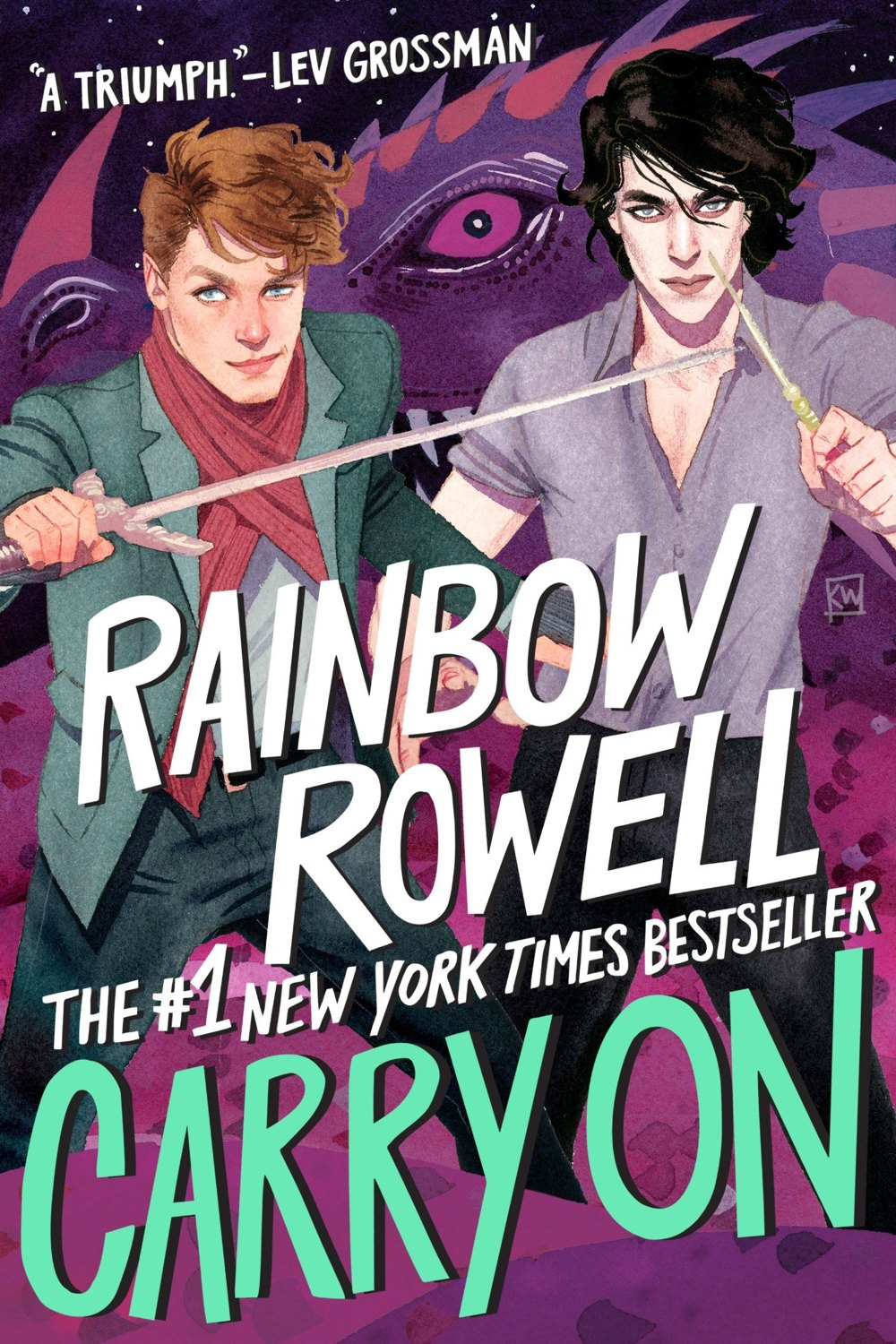 "Rainbow RowellRainbow RowellCarry OnRainbow Rowell""Thrilling and sexy, funny and shocking, deeply moving and very, very magical. Trust me, you have never, ever seen a wizard school like this."""