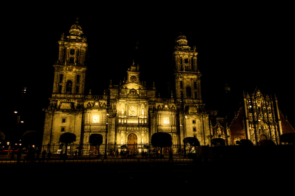 The Metropolitan Cathedral, concealing the sight of Templo Mayor