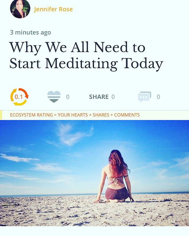 "I know, dear reader, I know. Yet another article about meditating. (Enter eye roll here.) Before you scroll past this, I invite you to hear me out. You see, I get it. I really do. My mind is just as (if not more) neurotic than yours and the thoughts, oh those darn thoughts they keep flying around and wreaking havoc while you're just sitting there trying to find the peace. Trying to find the calm. I know...."" To read the rest follow link in Bio 🙏🏽 . . . . @elephantjournal"