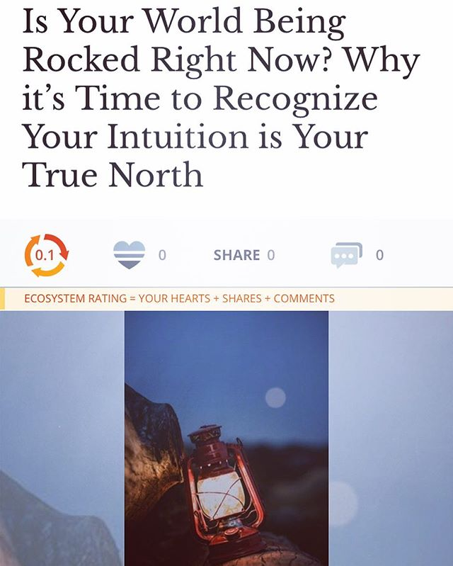 "Latest article published on @elephantjournal ! If you're so inclined please read, share and hit the like button if ya like it! I'm pushing myself past my comfort zone and sharing my writing more, I appreciate all the support 🙏🏽 ""The journey here was long. My journey to a new beginning. Made longer by the many times I blatantly ignored my intuition –  because I chose comfort and addiction over my higher well-being.  And yet, there were many very important moments  where I did listen to my inner GPS, and blessings flooded in as a result. Even still, the answers we seek are not always immediate,  our work is in the listening, the trusting and tending to the task at hand.  Get humble....."" . . . Follow link in bio to read the rest!"