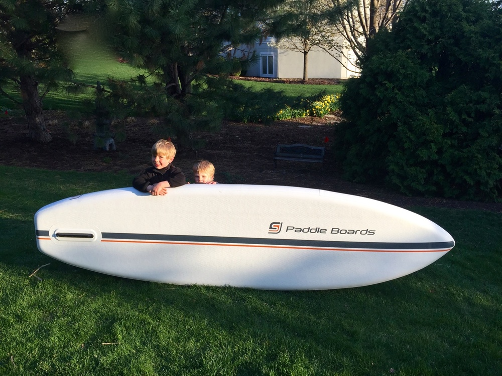 Arrival of the first prototype was a big step forward for SJ Paddle Boards.