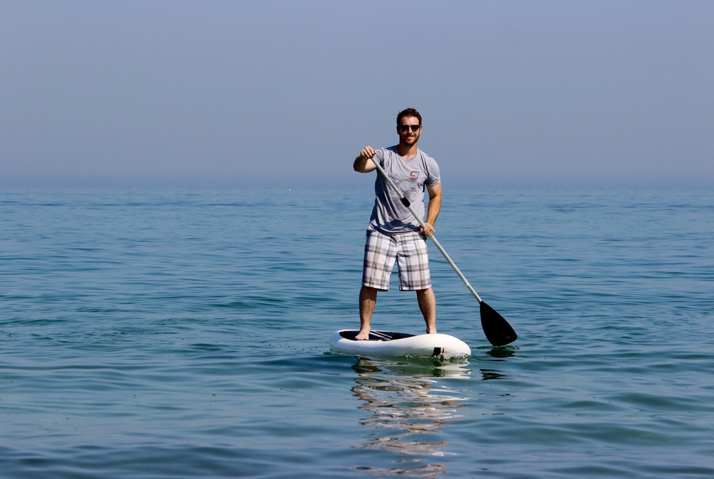 Paddleboarding on Lake Michigan in Indiana Dunes State Park (Photo courtesy of SJ Paddle Boards)