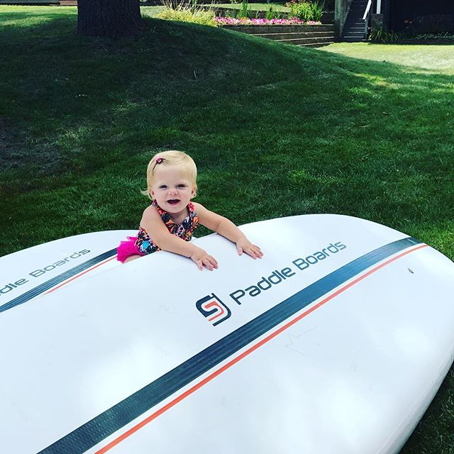"""Am I big enough to take this out alone yet, mom??"" #summer #midwest #suplife #startthemyoung #lakelife #puremichigan #sup"