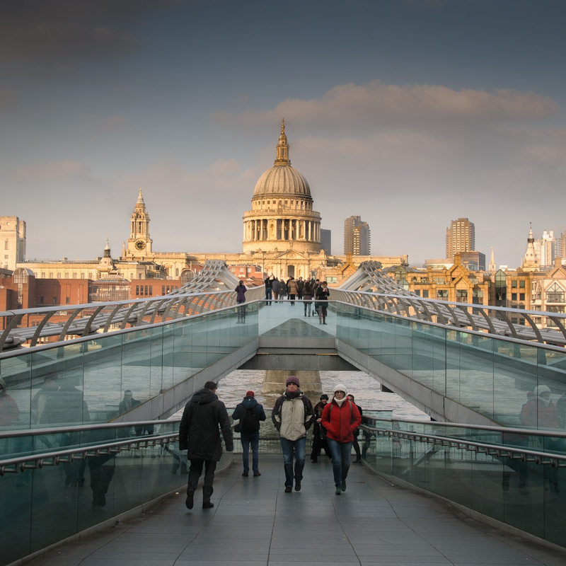 Across the Millenium Bridge by John Sweetland-Commended