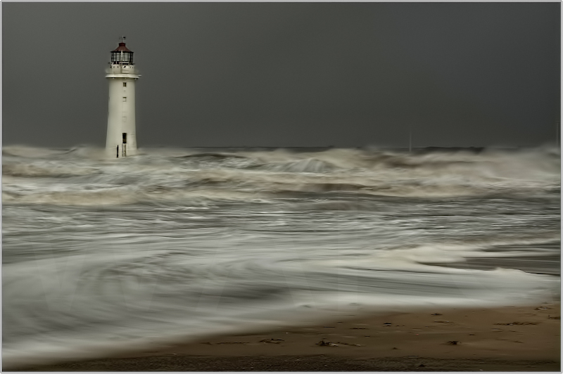 Irish Sea, Storm Force Imminent by Alan Lees-First