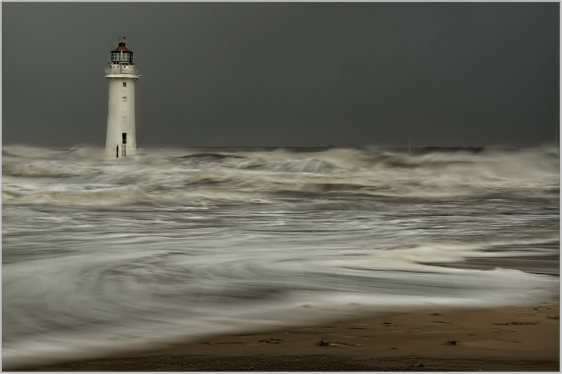 Irish Sea, Storm Force Imminent by Alan Lees - C