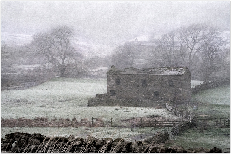 Barn in the Snow by Tim Growcott - C
