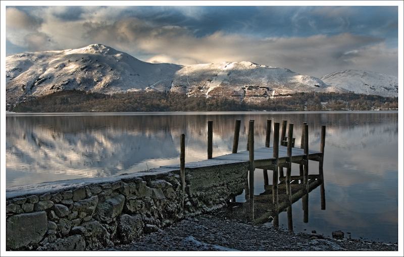 Winter at Derwent Water by Alan Lees