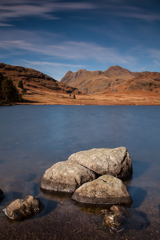 Winter Sun at Blea Tarn by David Slaughter - Third (Int)