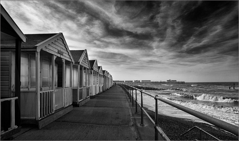 Beach Huts by Janet Griffiths - C (Adv mono)