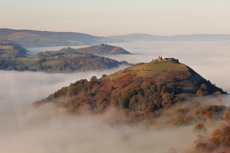 Autumn Mists at Dinas Bran by David Slaughter - 3rd