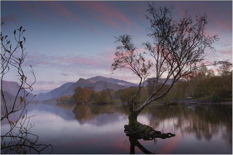 Llyn Padarn Sunset by Alan Lees - C