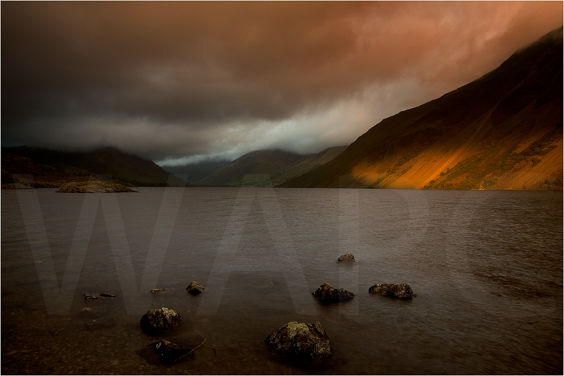 Wast Water Sunset by Jon Baker - C