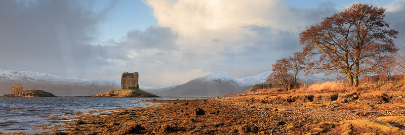 Winter's Light at Castle Stalker by David Slaughter - 1st (PDI)
