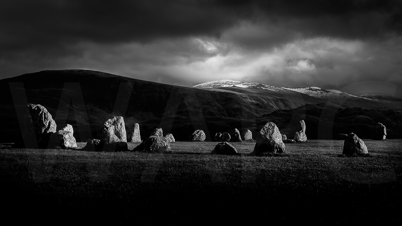 Light at Castlerigg by Norman O'Neill -  C (PRINT)